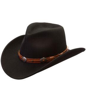 Silverado Men's Black Henley Crushable Wool Hat, Black, hi-res