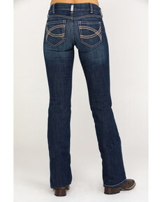 Ariat Women's R.E.A.L. Shayla Mid Rise Boot Cut Jeans, Blue, hi-res