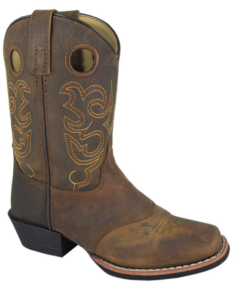 Smoky Mountain Boys' Sedona Western Boots - Square Toe, Brown, hi-res