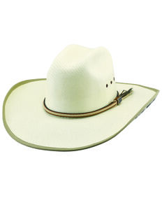 Justin Men's Patriot Tex Straw Western Cowboy Hat , Natural, hi-res