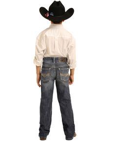 Panhandle Boys' Medium Reflex Stretch Denim Boot Jeans , Blue, hi-res