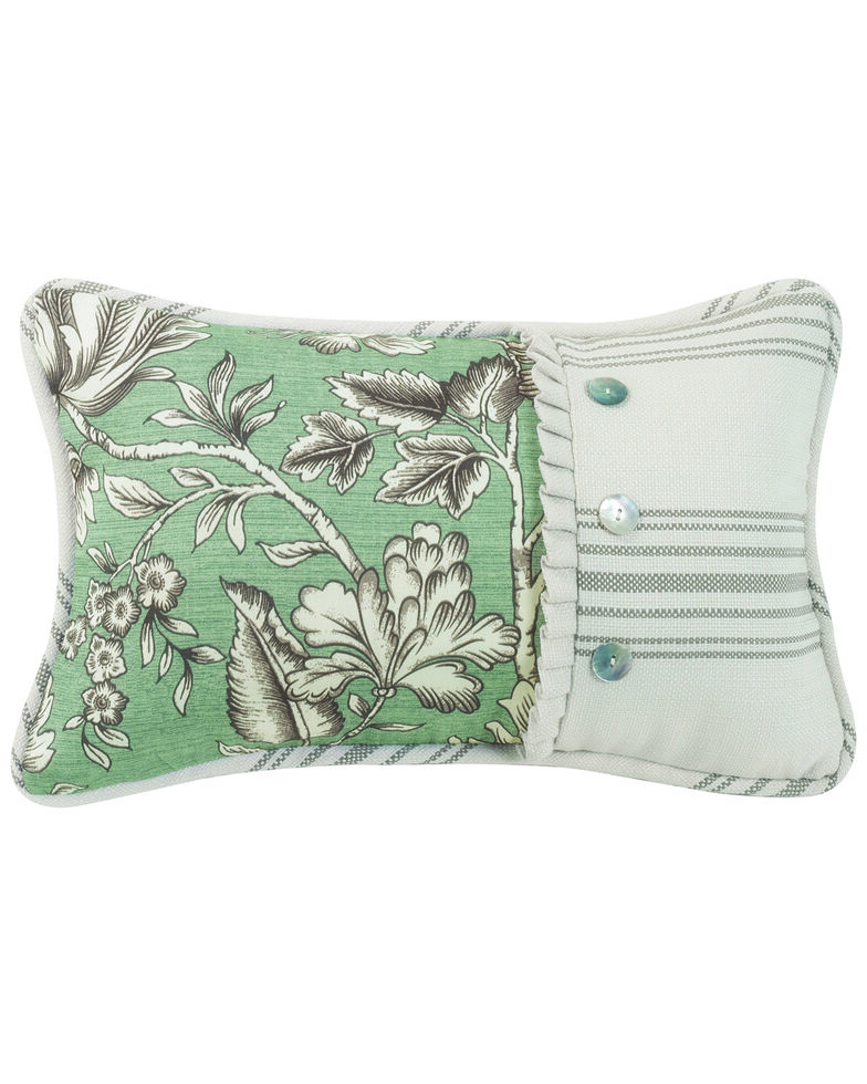 HiEnd Accent Multi Gramercy Pieced Floral Oblong Pillow, Multi, hi-res