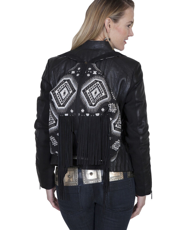 Scully Women's Aztec Backpack, Black, hi-res