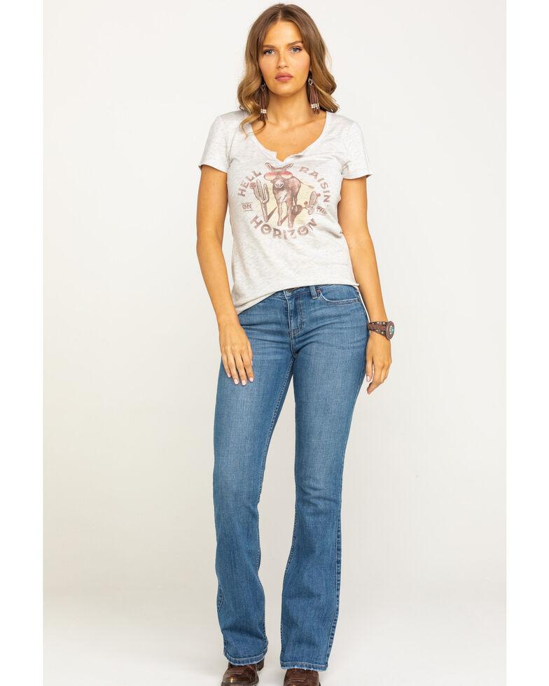 Idyllwind Women's Rebel Wild Heart Bootcut Jeans, Blue, hi-res