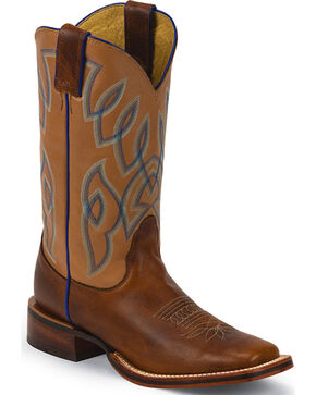Nocona Women's Western Boots - Square Toe , Brown, hi-res