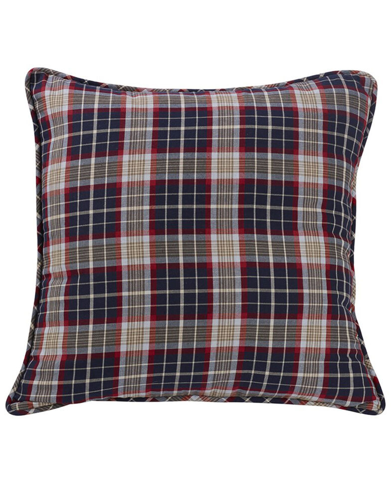 HiEnd Accents South Haven Blue Plaid Euro Accent Pillow, Multi, hi-res