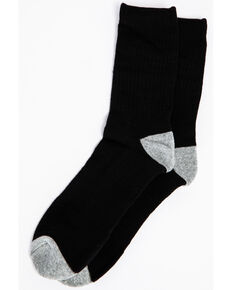 Cody James Men's Solid 3-Pack Crew Socks, Black, hi-res