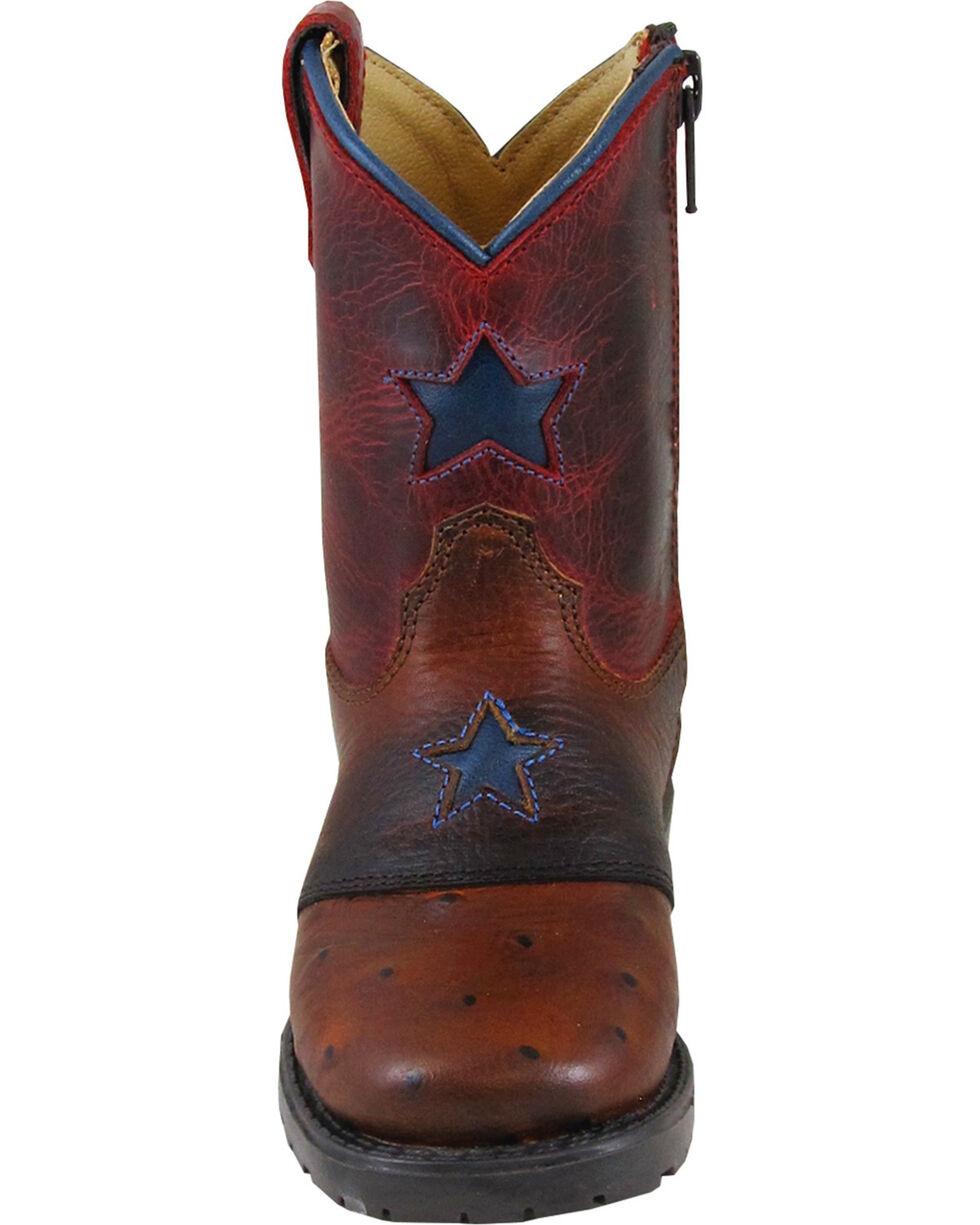 Smoky Mountain Toddler Boys' Autry Star Inlay Cowboy Boots - Square Toe, Cognac, hi-res