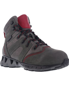 Reebok Women's ZigKick Waterproof Hiker Work Boots - Carbon Toe , Grey, hi-res