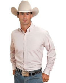 Stetson Plaid Button Shirt, Pink, hi-res