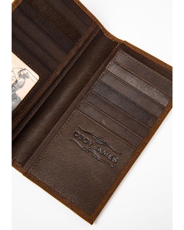 Cody James Men's Brown Americana Leather Checkbook Wallet, Brown, hi-res