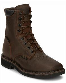 Justin Men's Driller Waterproof Work Boots - Composite Toe, Brown, hi-res