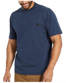 Wolverine Men's Solid Navy Guardian Long Sleeve Work Pocket T-Shirt , Navy, hi-res