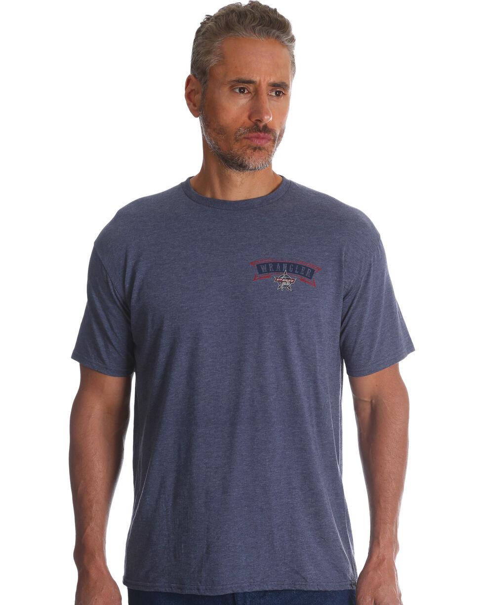 Wrangler Men's Indigo PBR Short Sleeve Tee , Indigo, hi-res