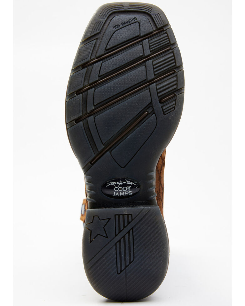 Cody James Men's Lite Western Boots - Wide Square Toe, Blue, hi-res