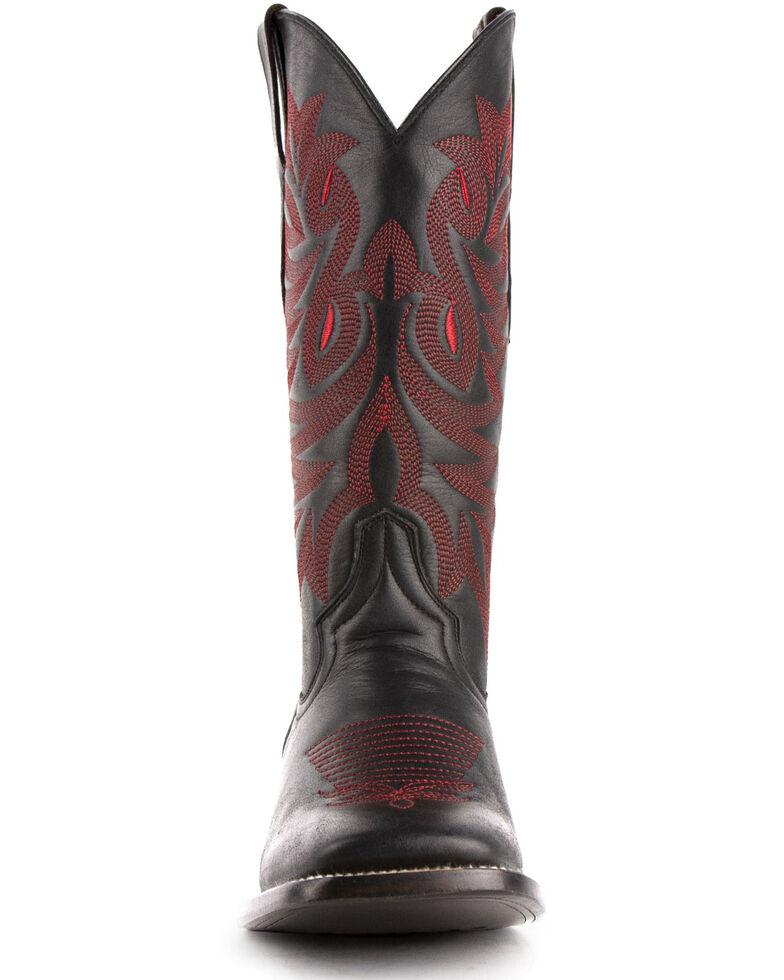 Ferrini Women's Jane Western Boots - Wide Square Toe, Black, hi-res
