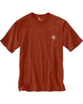 Carhartt Men's Sequoia Heather Workwear Pocket T-Shirt, Brown, hi-res