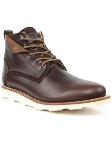 Superlamb Men's Makan Desert Boots - Round Toe, Black Cherry, hi-res
