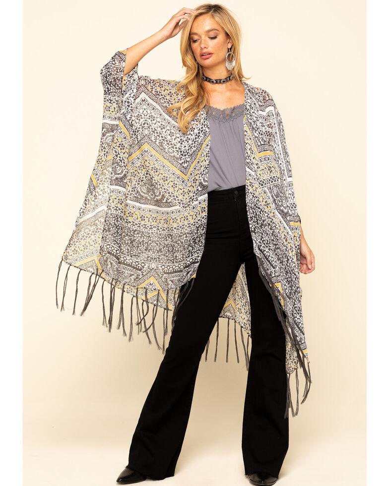 Ariat Women's Pappy's Kimono, Dark Yellow, hi-res