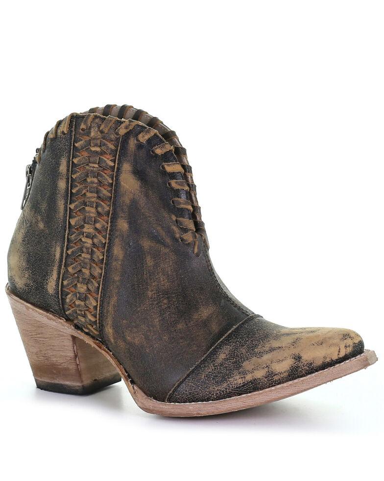 Corral Women's Woven Fashion Booties - Snip Toe, Black, hi-res