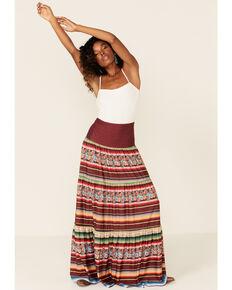 Tasha Polizzi Women's Maroon Veronica Serape Skirt, Multi, hi-res