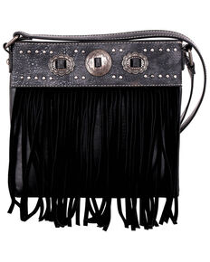 Montana West Women's Fringe Crossbody Bag, Black, hi-res