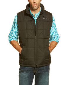 Ariat Men's Crius Poly Fill Zip Front Vest - Big , Black, hi-res