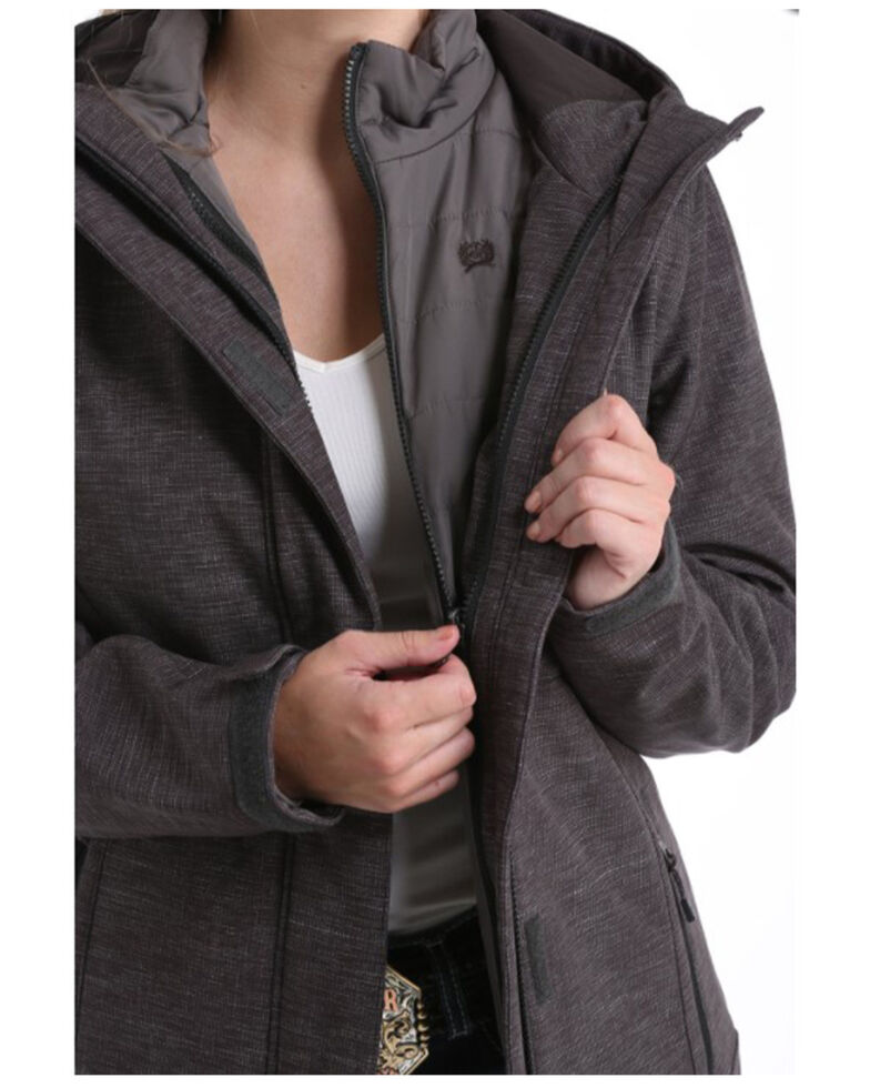 Cinch Women's Charcoal 3-in-1 Bonded Hooded Jacket , , hi-res