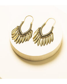 Idyllwind Women's Disco Pansy Brass Earrings, Bronze, hi-res