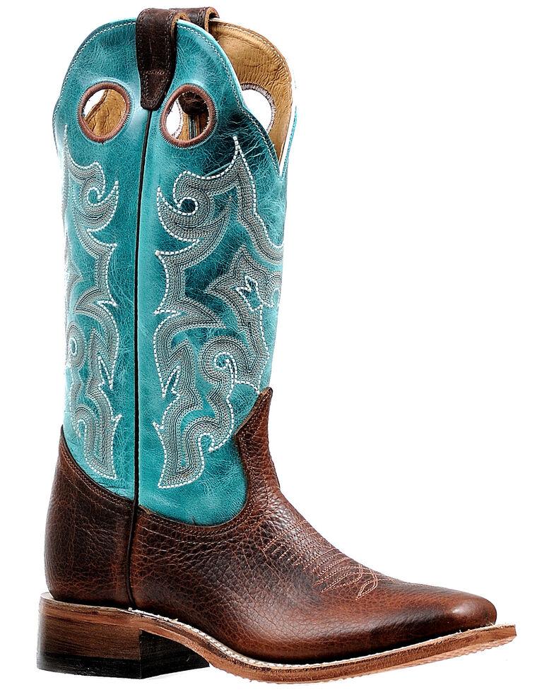 Boulet Women's Cognac Western Boots - Wide Square Toe, Cognac, hi-res