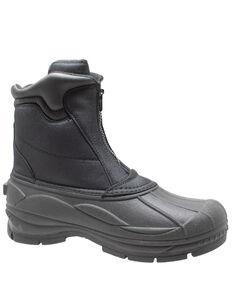 Winter Tecs Men's Durable Nylon Winter Boots - Round Toe, Black, hi-res