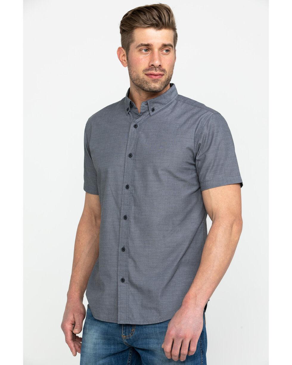 Levis Men's Delmore Solid Long Sleeve Western Shirt , Black, hi-res