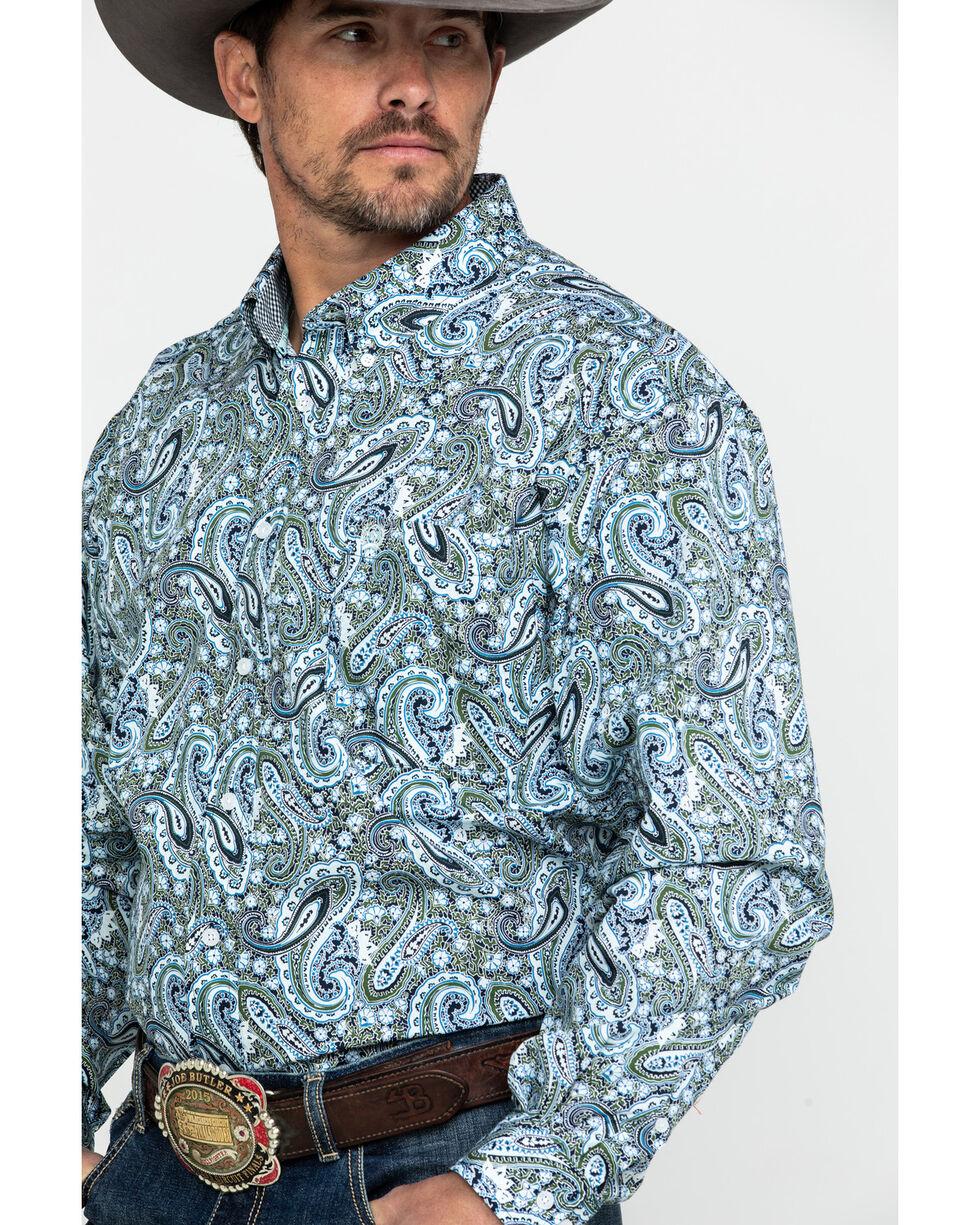 Cinch Men's Multi Paisley Print Long Sleeve Western Shirt , Multi, hi-res