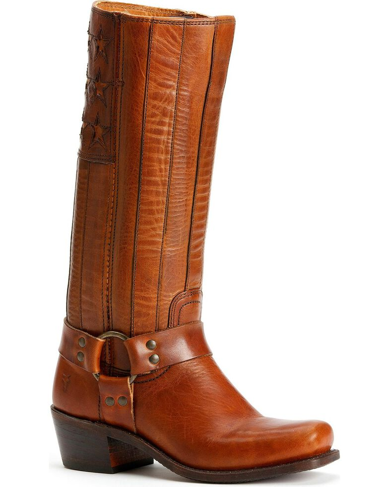 Frye Women's Harness Americana Tall Boots - Square Toe, Tan, hi-res