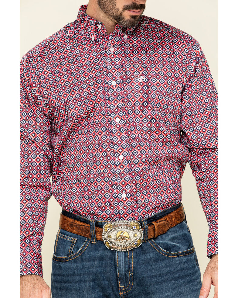 Ariat Men's Shasta Aztec Geo Print Long Sleeve Western Shirt , Multi, hi-res