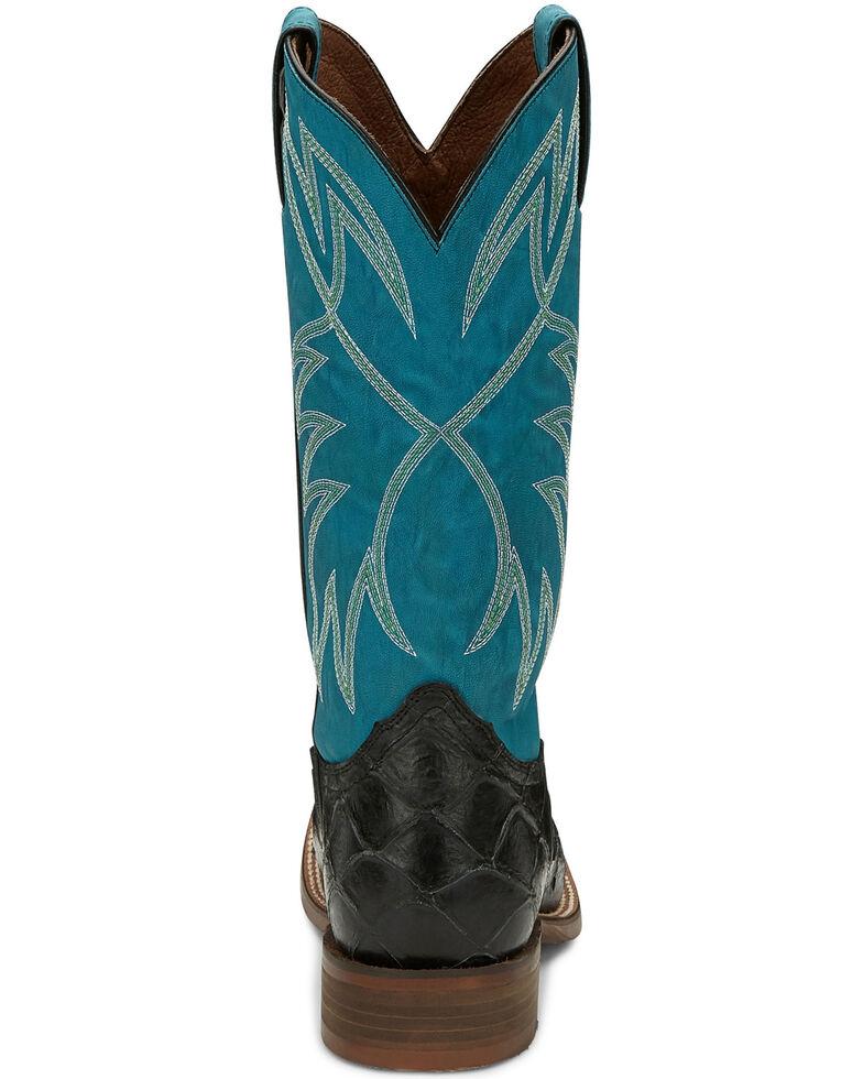 Nocona Men's Go Round Black Western Boots - Square Toe, Black, hi-res
