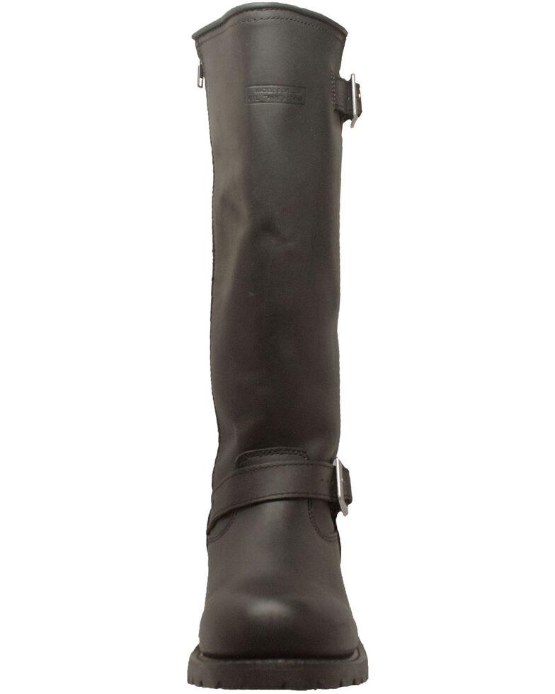 Ad Tec Men's Engineer Biker Boots - Round Toe, Black, hi-res