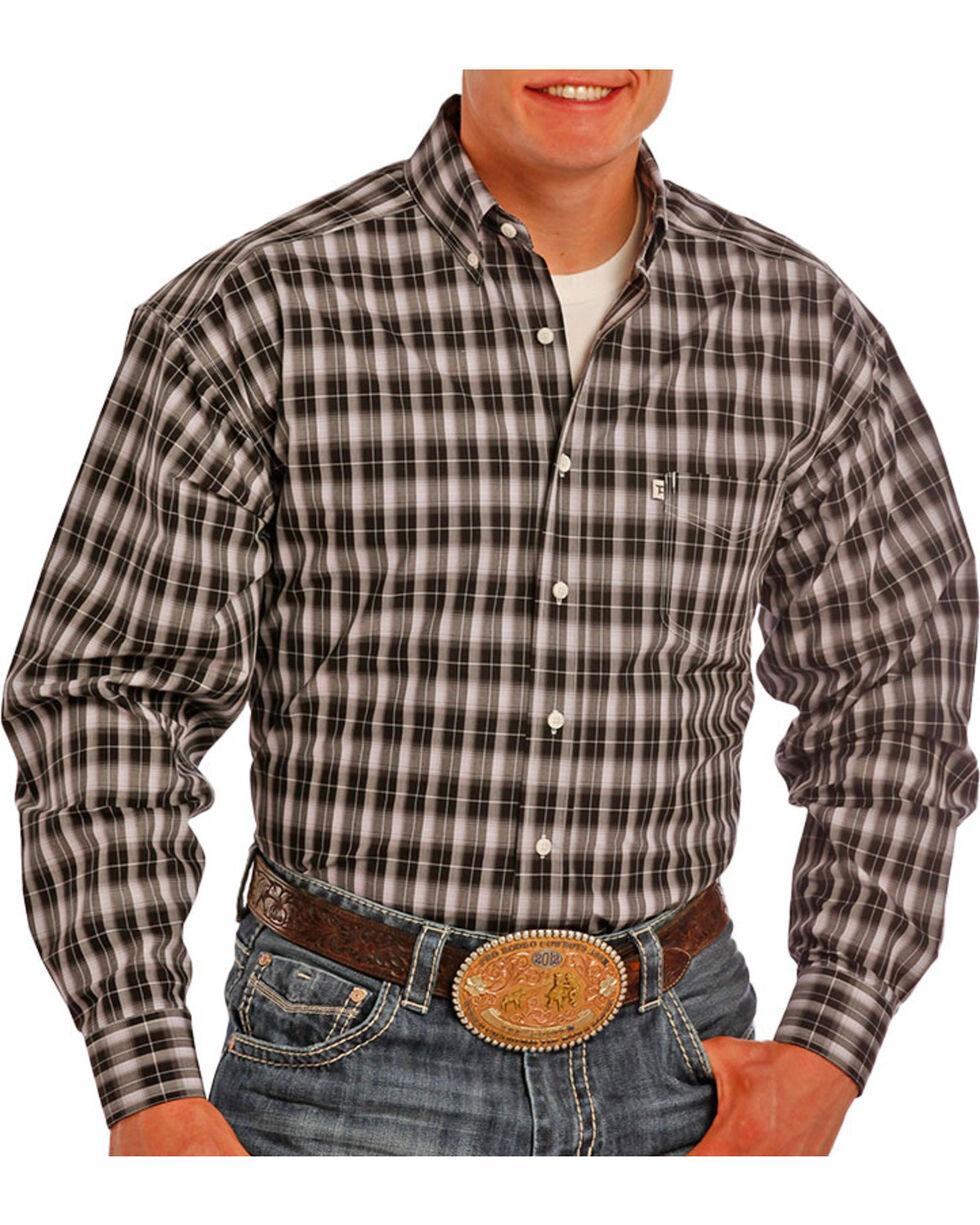 Tuf Cooper Men's Plaid Poplin Long Sleeve Shirt , , hi-res