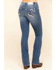 Miss Me Women's Chloe Fleur-De-Lis Bootcut Jeans, Blue, hi-res