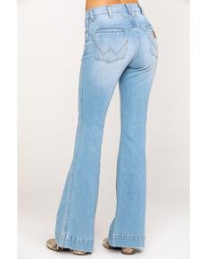 Wrangler Women's Modern Western Yoke Robin Flare Jeans, Blue, hi-res