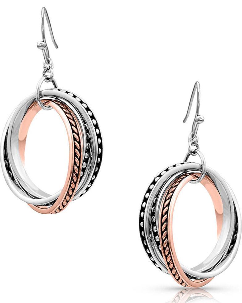 Montana Silversmiths Women's Crossroads Earrings, Silver, hi-res