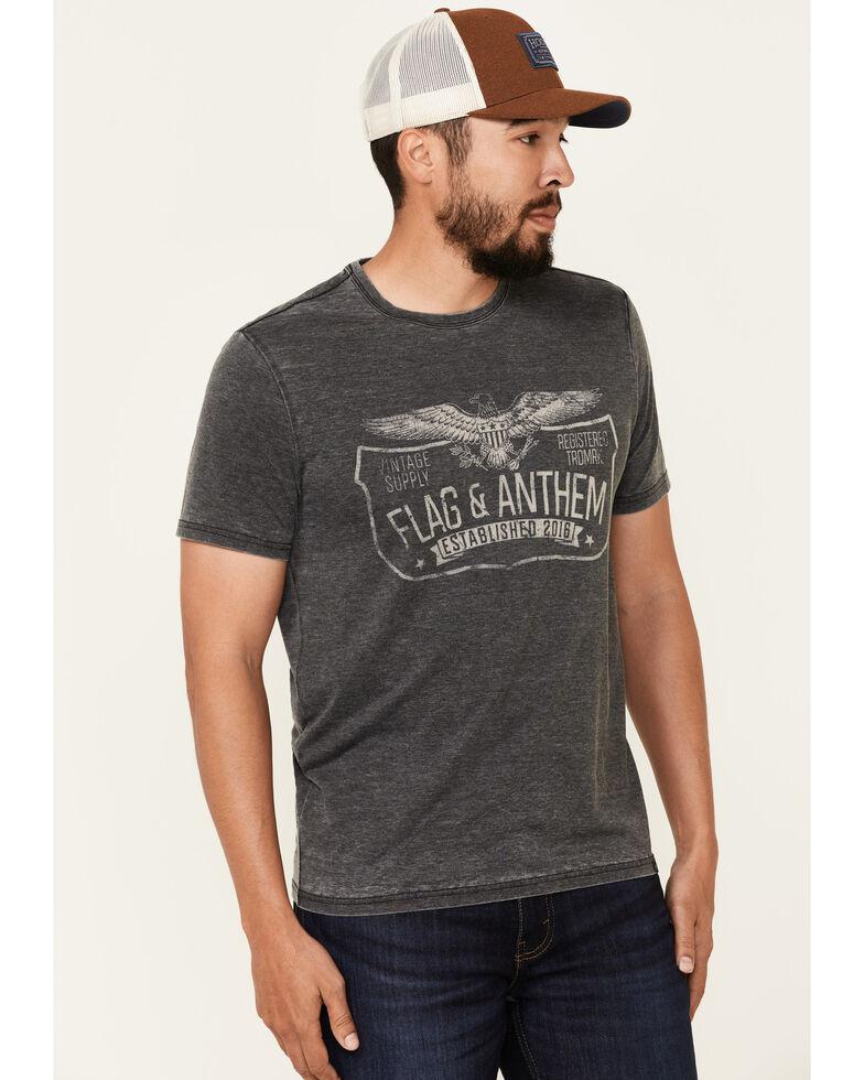 Flag & Anthem Men's Trademark Logo Burnout Short Sleeve T-Shirt , Charcoal, hi-res