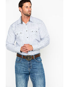 Cody James Men's Geo Print Long Sleeve Western Shirt, Grey, hi-res