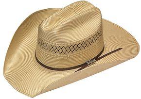 Twister 10X Shantung Double S Straw Cowboy Hat, Tan, hi-res