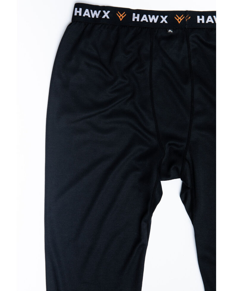 Hawx Men's Black Mid-Weight Base Layer Thermal Work Pants , Black, hi-res