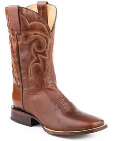 Roper Men's Parker Western Boots - Square Toe, Brown, hi-res