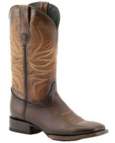 Ferrini Men's Fuego Western Boots - Wide Square Toe, Brown, hi-res