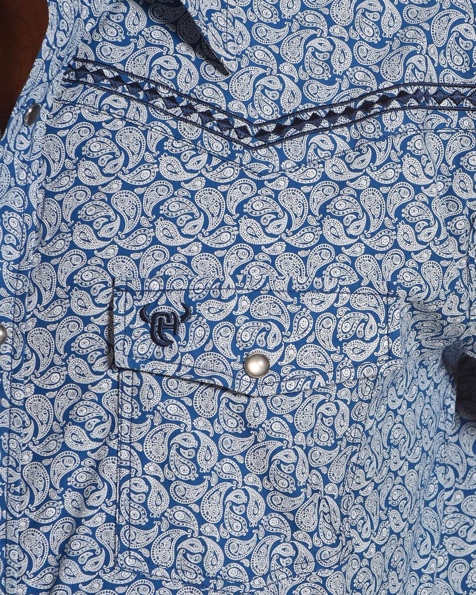 Cowboy Hardware Men's Blue Mini Paisley Print Shirt , Blue, hi-res