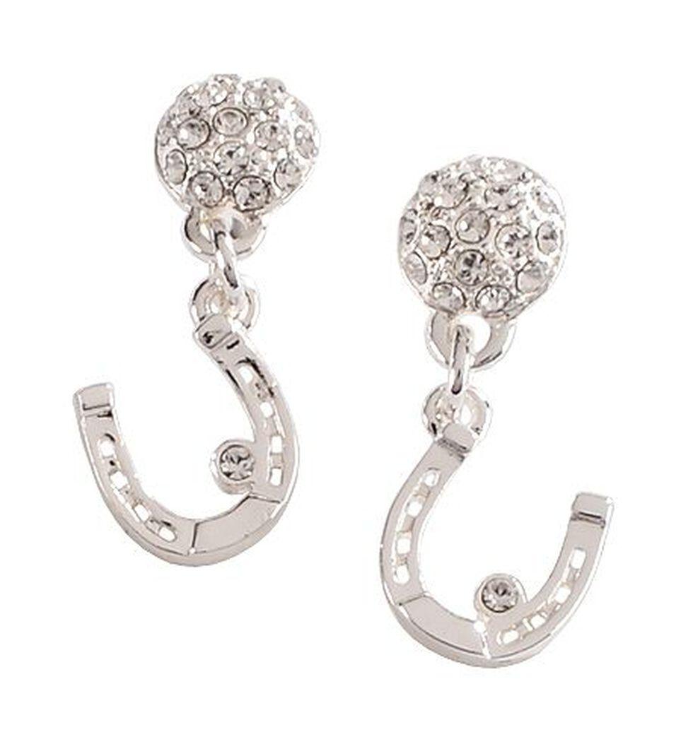 Montana Silversmiths Horseshoe Dangling Earrings, Silver, hi-res