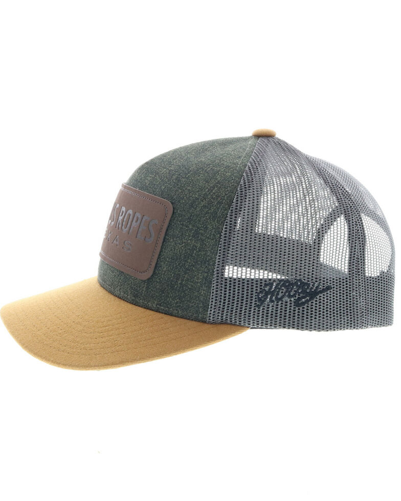 HOOey Men's Cactus Ropes Trucker Cap, Grey, hi-res